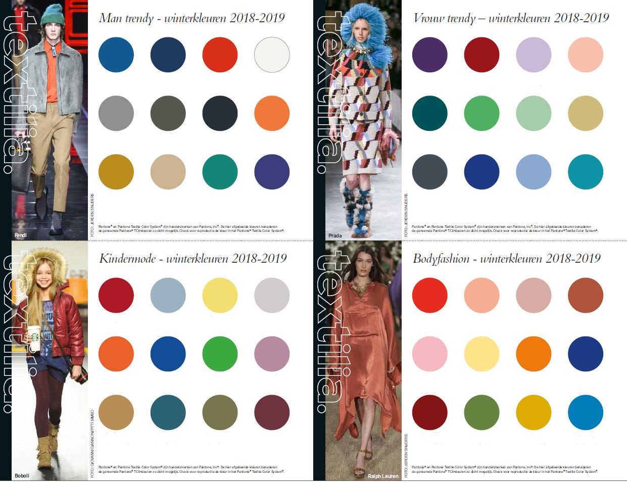 Kleurkaarten Winter 2018-2019 B